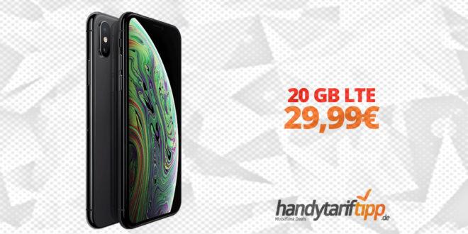 iPhone XS & Powerbank mit 20 GB LTE nur 29,99€
