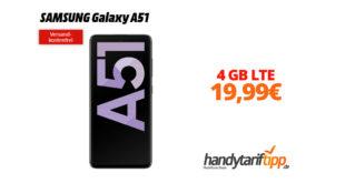 SAMSUNG Galaxy A51 mit 4 GB LTE nur 19,99€