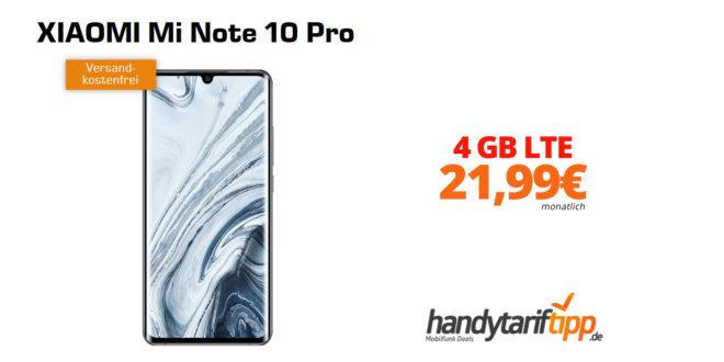XIAOMI Mi Note 10 Pro mit 4 GB LTE nur 21,99€