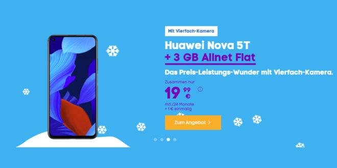 Huawei nova 5T mit 3 GB LTE nur 19,99€