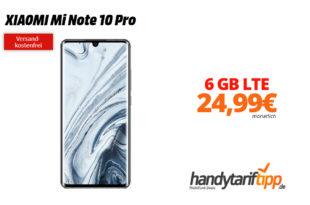 XIAOMI Mi Note 10 Pro mit 6 GB LTE nur 24,99€