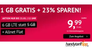Allnet-Flat mit 6 GB LTE (monatlich kündbar) nur 9,99€