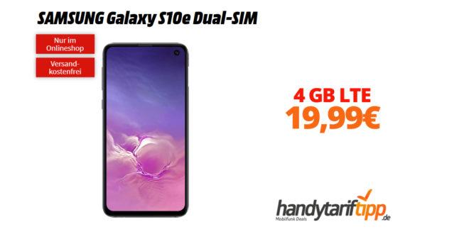Galaxy S10e Dual-SIM mit 4 GB LTE nur 19,99€