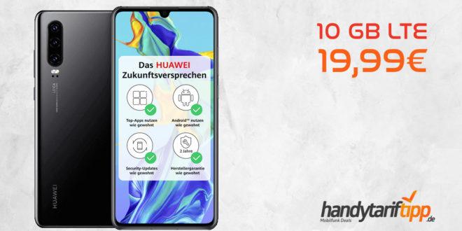 Huawei P30 mit 10 GB LTE nur 19,99€