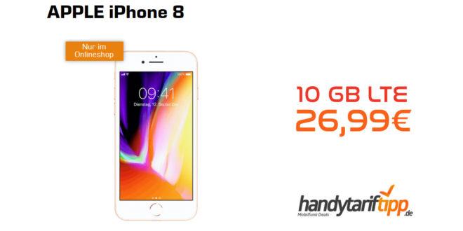 iPhone 8 mit 10 GB LTE nur 26,99€