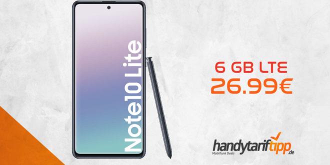 Galaxy Note 10 Lite mit 6 GB LTE nur 26,99€