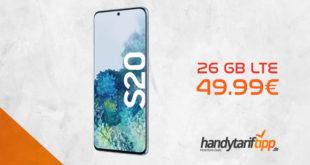 Galaxy S20 mit 26 GB LTE nur 49,99€