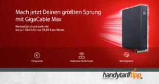[Kabel Internet] GigaCable Max bei Vodafone - bis zu 1 Gbit/s für nur 39,99 € pro Monat