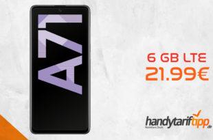 SAMSUNG Galaxy A71 mit 6 GB LTE nur 21,99€