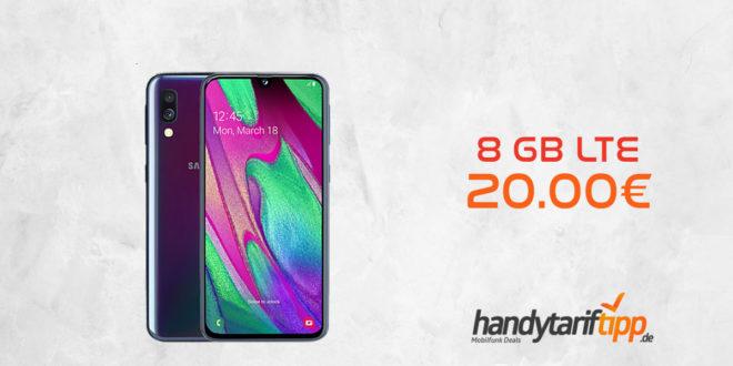 Galaxy A40 mit 8 GB LTE im Telekom Netz nur 20€