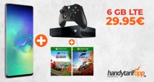 Galaxy S10 & Xbox One X 1TB & Forza Horizon 4 & LEGO Speed Champion mit 6 GB LTE im Telekom Netz eff. nur 29,95€
