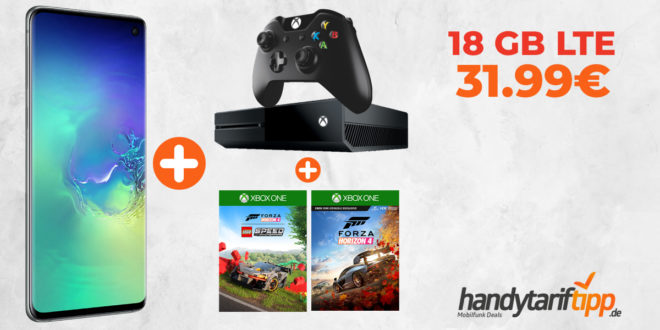 Galaxy S10 & Xbox One X & Forza Horizon 4 & LEGO Speed Champion mit 18 GB LTE nur 31,99€