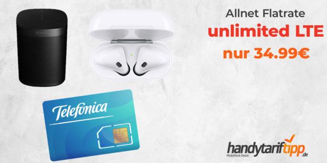 unlimited LTE mit Apple AirPods oder Sonos One nur 34,99€