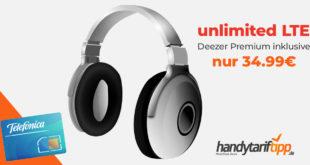 unlimited LTE & Deezer Premium nur 34,99€