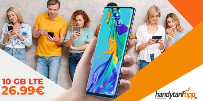 HUAWEI P30 Pro mit 10 GB LTE nur 26,99€ - mit 20 GB LTE nur 29,99€