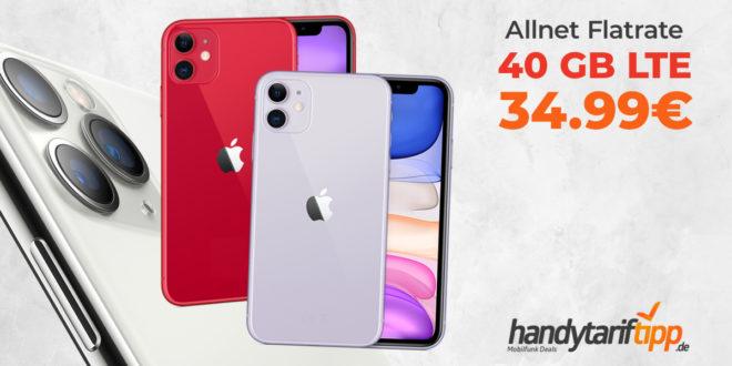 iPhone 11 mit 40 GB LTE nur 34,99€
