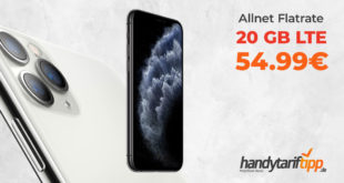 Apple iPhone 11 Pro mit 20 GB LTE nur 54,99€