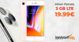 APPLE iPhone 8 mit 3 GB LTE nur 19,99€