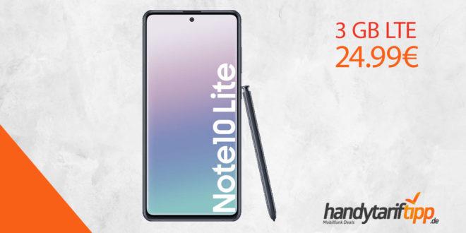 Galaxy Note 10 Lite mit 3 GB LTE nur 24,99€