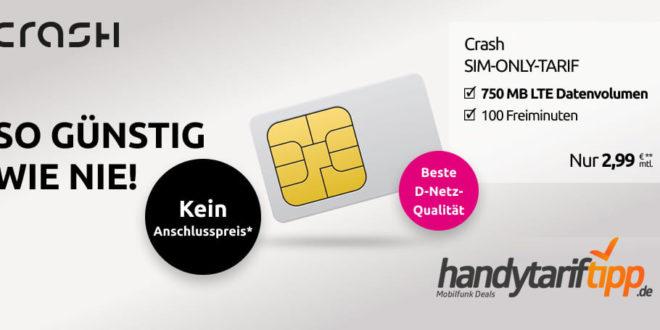 100 Freiminuten & 750 MB LTE im Telekom Netz nur 2,99€