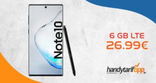 Galaxy Note10 mit 6 GB LTE im Telekom Netz nur 26,99€