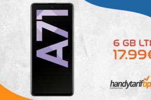 SAMSUNG Galaxy A71 mit 6 GB LTE nur 17,99€