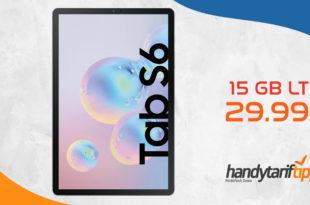 [Daten-Tarif] SAMSUNG Galaxy Tab S6 mit 15 GB LTE Telekom nur 29,99€