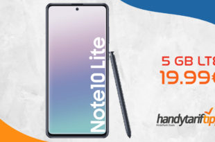 Galaxy Note 10 Lite mit 5 GB LTE nur 19,99€