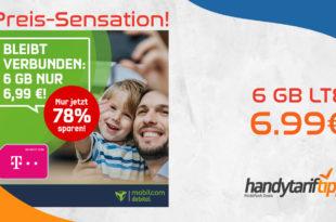 [Preis-Sensation] 6 GB LTE Allnet im Telekom Netz nur 6,99€