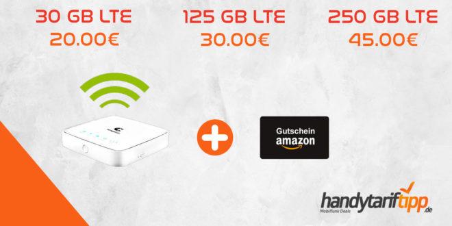 [Mobiler HotSpot im Telekom Netz] 30 GB LTE nur 20€   125 GB LTE nur 30€   250 GB LTE nur 45€