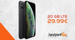 APPLE iPhone XS mit 20 GB LTE nur 29,99€