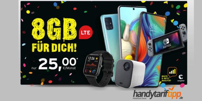 8 GB LTE im Telekom Netz mit Smartphone oder Multimedia nur 25€