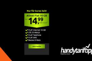 10 GB LTE Allnet Flat im Telekom Netz für 14,99€