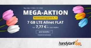 7 GB LTE Allnet Flat ohne Vertragslaufzeit nur 7,77€