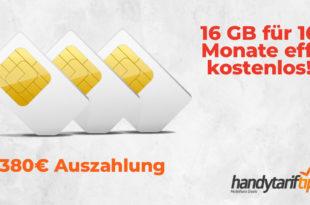 16 GB LTE für 16 Monate eff. kostenlos!