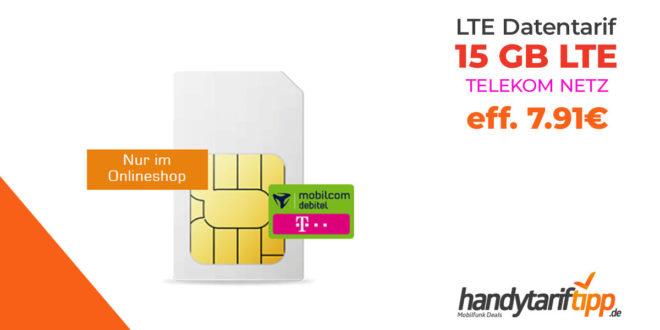 Datentarif mit 15 GB LTE im Telekom Netz eff. nur 7,91€