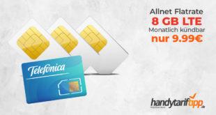 8 GB LTE mit Allnet-Flat & monatlich kündbar nur 9,99€