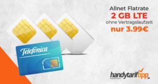 2 GB LTE & Allnet-Flat ohne Vertragslaufzeit nur 3,99€