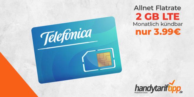 2 GB LTE Allnet-Flat monatlich kündbar nur 3,99€