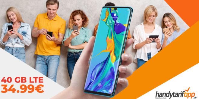 HUAWEI P30 Pro mit 40 GB LTE nur 34,99€