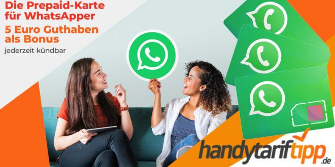 Prepaid Karte mit bis zu 4 GB LTE und 5 Euro Bonus