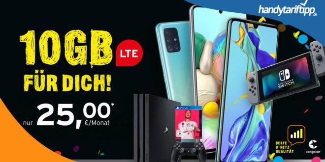 10GB LTE im Telekom Netz MIT MULTIMEDIA [z.B. PS4, Nintendo Switch, iPad] nur 25€