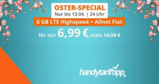 6 GB LTE Allnet Flat (monatlich kündbar) für 6,99 Euro mtl.