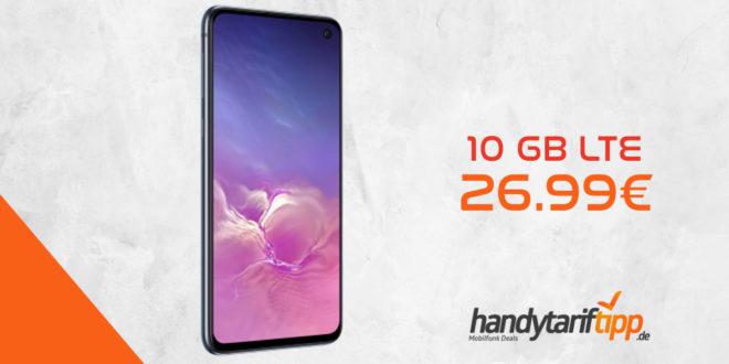 Galaxy S10 Dual-SIM mit 10 GB LTE im Telekom Netz nur 26,99€