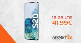 SAMSUNG Galaxy S20 mit 18 GB LTE nur 41,99€