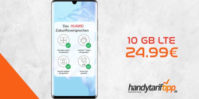 HUAWEI P30 Pro mit 10 GB LTE nur 24,99€