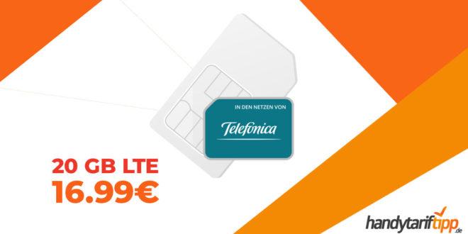 LTE 20 GB (monatlich kündbar) nur 16,99€