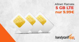 Allnet Flat mit 5 GB LTE im Telekom Netz nur 9,99€