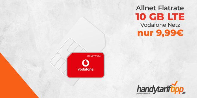 LTE 10 GB Allnet Flat im Vodafone Netz nur 9,99€