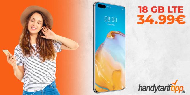 HUAWEI P40 Pro mit 18 GB LTE nur 34,99€